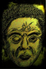 Visualisasi wajah Dajjal hanyalah penggambaran yang dibuat berdasarkan Hadits Rosuulullooh صلى الله عليه وسلم . Adapun wajah aslinya adalah Allooh سبحانه وتعالى lebih Maha Mengetahuinya.